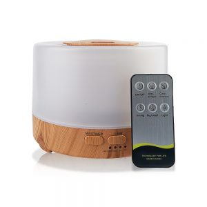 Ultrasonic Warm White Wooden Aroma Air Humidifier Diffuser with Remote Control